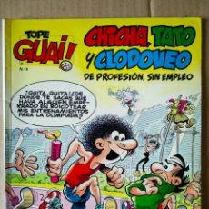 Cómics: TOPE GUAI! N°9: CHICHA, TATO Y CLODOVEO. ¡A POR LA OLIMPIADA 92!. POR IBÁÑEZ. JUNIOR GRIJALBO, 1987. Lote 157353266