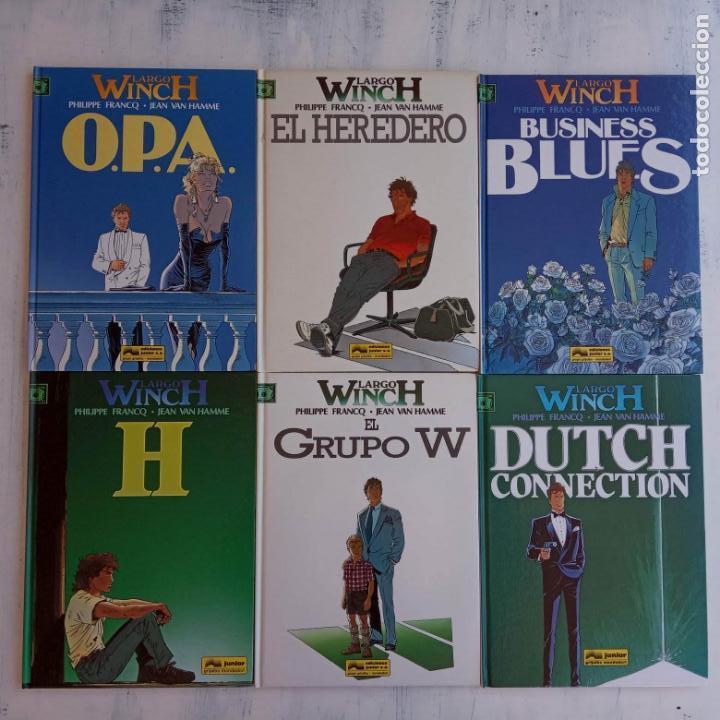 LARGO WINCH NºS 1,2,3,4,5,6 - TAPA DURA - PHILIPPE FRANCQ - JEAN VAN AMME - 1992-1995 - 44 IMÁGENES (Tebeos y Comics - Grijalbo - Largo Winch)