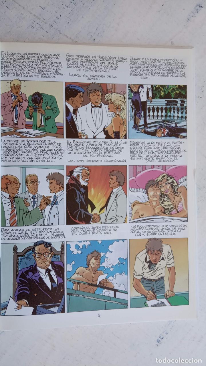 Cómics: LARGO WINCH NºS 1,2,3,4,5,6 - TAPA DURA - PHILIPPE FRANCQ - JEAN VAN AMME - 1992-1995 - 44 IMÁGENES - Foto 9 - 158146242