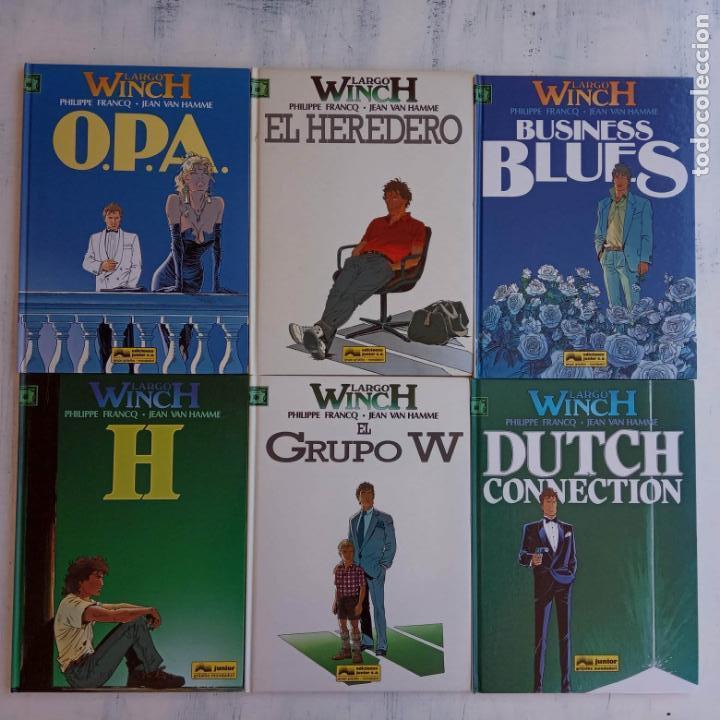 Cómics: LARGO WINCH NºS 1,2,3,4,5,6 - TAPA DURA - PHILIPPE FRANCQ - JEAN VAN AMME - 1992-1995 - 44 IMÁGENES - Foto 41 - 158146242