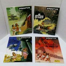 Cómics: PAPYRUS. LOTE 4 NÚMEROS. 4, 5, 6 Y 8. TOTALMENTE NUEVOS. DE GIETER. GRIJALBO. TAPA DURA.. Lote 158174137