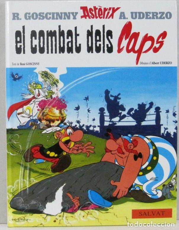 ASTERIX EL COMBAT DELS CAPS - SALVAT - COMIC EN CATALAN (Tebeos y Comics - Grijalbo - Asterix)