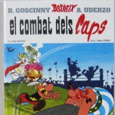 Cómics: ASTERIX EL COMBAT DELS CAPS - SALVAT - COMIC EN CATALAN. Lote 158198746
