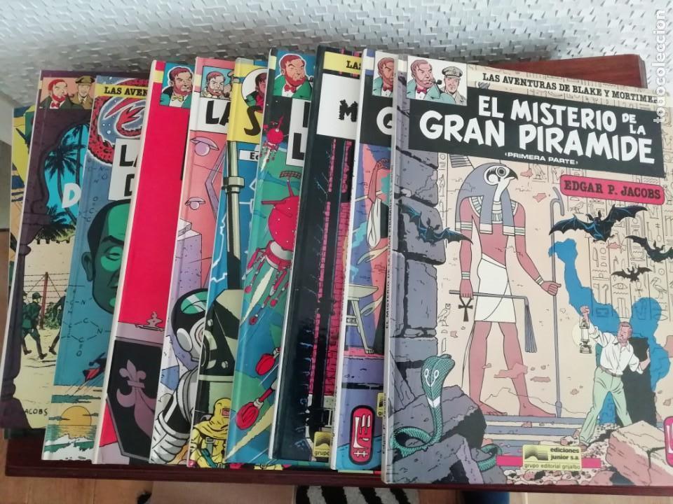 LAS AVENTURAS DE BLAKE Y MORTIMER LOTE DEL 1 AL 11 (Tebeos y Comics - Grijalbo - Blake y Mortimer)