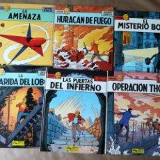 Fumetti: LEFRANC 6 PRIMEROS TOMOS: LA AMENAZA HURACÁN DE FUEGO MISTERIO BORG GUARIDA DEL LOBO Y MÁS. Lote 160365758