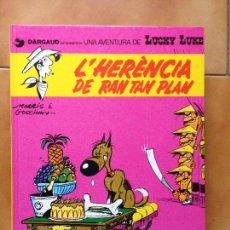 Comics: LUCKY LUKE Nº 6 : L´ HERÈNCIA DE RAN TAN PLAN - MORRIS & GOSCINNY - GRIJALBO 1991 EDICIÓN CATALÁN. Lote 192093136