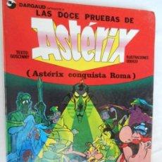 Cómics: ASTERIX , LAS DOCE PRUEBAS, ASTERIX CONQUISTA ROMA , GRIJALBO - PASTAS DURAS . Lote 163994782