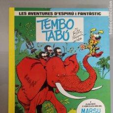 Cómics: LES AVENTURES D'ESPIRU I FANTÀSTIC TEMBO TABU 16 JUNIOR GRIJALBO 1986. Lote 164281666