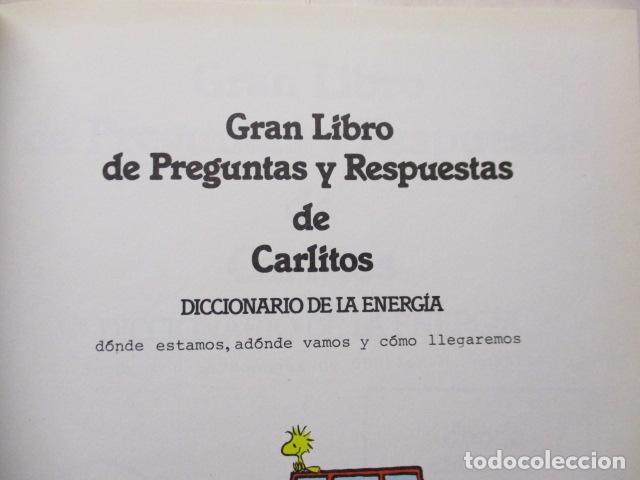 Cómics: GRAN LIBRO DE PREGUNTAS Y RESPUESTAS DE CARLITOS ,TOMO 6 , CHARLIE BROWN SNOOPY , GRIJALBO DARGAUD - Foto 7 - 164378402