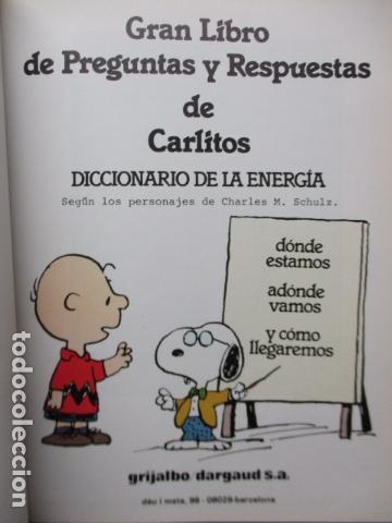 Cómics: GRAN LIBRO DE PREGUNTAS Y RESPUESTAS DE CARLITOS ,TOMO 6 , CHARLIE BROWN SNOOPY , GRIJALBO DARGAUD - Foto 8 - 164378402