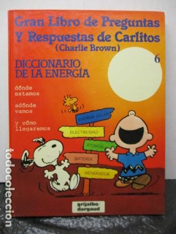 GRAN LIBRO DE PREGUNTAS Y RESPUESTAS DE CARLITOS ,TOMO 6 , CHARLIE BROWN SNOOPY , GRIJALBO DARGAUD (Tebeos y Comics - Grijalbo - Otros)