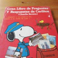 Cómics: GRAN LIBRO DE PREGUNTAS Y RESPUESTAS ESTAS DE CARLITOS (CHARLIE BROWN). 4.. Lote 164913414