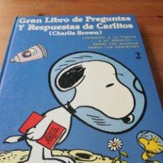 Cómics: GRAN LIBRO DE PREGUNTAS Y RESPUESTAS DE CARLITOS (CHARLIE BROWN). 2.. Lote 164913574