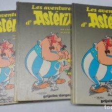 Cómics: LOTE DE 3 TOMOS ASTÉRIX EN CATALÁN, 4 AVENTURAS POR TOMO, VER FOTOS. Lote 165036926