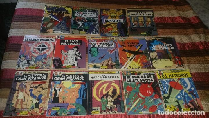 14 COMICS BLAKE Y MORTIMER EDGAR JACOBS ED JUNIOR COMPLETA RAYO U + FRANCIS BLAKE (Tebeos y Comics - Grijalbo - Blake y Mortimer)