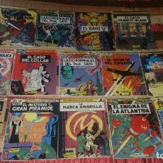 Cómics: 14 COMICS BLAKE Y MORTIMER EDGAR JACOBS ED JUNIOR COMPLETA RAYO U + FRANCIS BLAKE. Lote 165717370