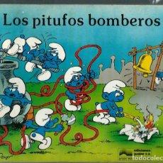 Cómics: PEYO - LOS PITUFOS BOMBEROS - ED JUNIOR 1982, LIBRO ILUSTRADO, FORMATO APAISADO, MUY RARO. Lote 166148806