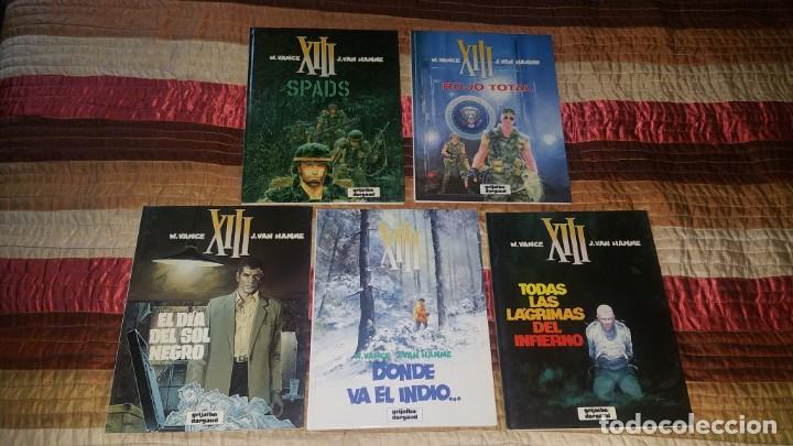LOTE 5 COMICS XIII VANCE VAN HAMME 1 2 3 4 5 GRIJALBO AÑO 1987 (Tebeos y Comics - Grijalbo - XIII)
