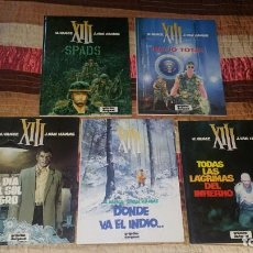 Cómics: LOTE 5 COMICS XIII VANCE VAN HAMME 1 2 3 4 5 GRIJALBO AÑO 1987. Lote 166294150