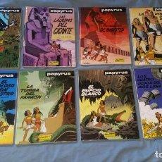 Comics : PAPYRUS DE GUIETER COLECCION COMPLETA 8 TOMOS DEL 3 AL 10 ED. JUNIOR PRIMERA EDICIÓN. Lote 166527950