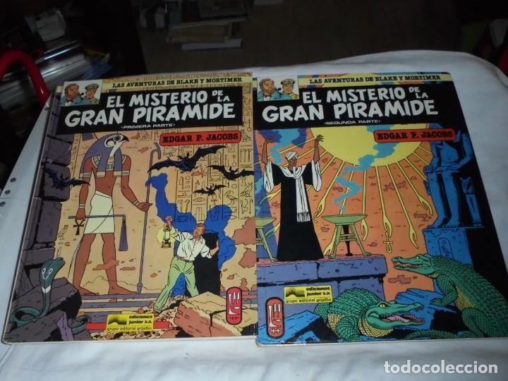 EL MISTERIO DE LA GRAN PIRAMIDE.EDGAR P.JACOBS.COMPLETA 2 TOMOS.EDICIONES JUNIOR 1983.-1ª EDCION (Tebeos y Comics - Grijalbo - Blake y Mortimer)