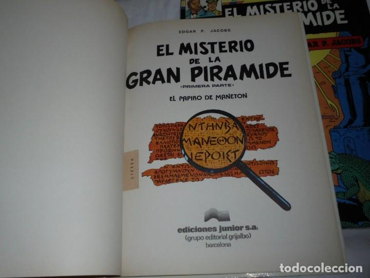 Cómics: EL MISTERIO DE LA GRAN PIRAMIDE.EDGAR P.JACOBS.COMPLETA 2 TOMOS.EDICIONES JUNIOR 1983.-1ª EDCION - Foto 3 - 166721810