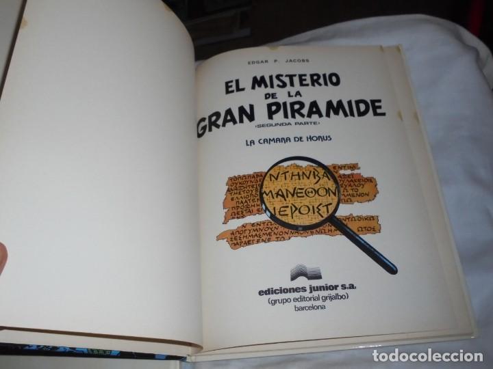 Cómics: EL MISTERIO DE LA GRAN PIRAMIDE.EDGAR P.JACOBS.COMPLETA 2 TOMOS.EDICIONES JUNIOR 1983.-1ª EDCION - Foto 8 - 166721810