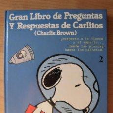 Cómics: TOMO 2 GRAN LIBRO DE PREGUNTAS Y RESPUESTAS DE CARLITOS CHARLIE BROWN. Lote 168445088