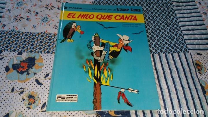 LUCKY LUKE EL HILO QUE CANTA ED. JUNIOR SIN NÚMERO EN LOMO (Tebeos y Comics - Grijalbo - Lucky Luke)