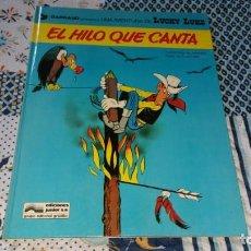 Cómics: LUCKY LUKE EL HILO QUE CANTA ED. JUNIOR SIN NÚMERO EN LOMO. Lote 169111052