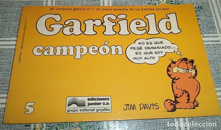 GARFIELD CAMPEON N.º 5 JIM DAVIS ED. JUNIOR (Tebeos y Comics - Grijalbo - Otros)