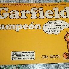Cómics: GARFIELD CAMPEON N.º 5 JIM DAVIS ED. JUNIOR. Lote 169695032