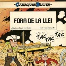 Cómics: CASAQUES BLAVES-2: FORA DE LA LLEI (JUNIOR, 1985) DE SALVÉRIUS I CAUVIN. EN CATALÀ.. Lote 170317020