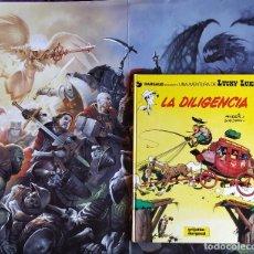 Cómics: LUCKY LUKE N24: LA DILIGENCIA, DE MORRIS Y GOSCINNY (GRIJALBO/DARGAUD, 1983) TAPA DURA. Lote 170599070