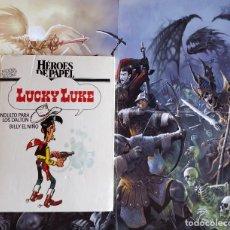 Cómics: LUCKY LUKE - COLECCION HEROES DE PAPEL-ANTOLOGIA DE LOS MITOS DEL COMIC MORRIS / GOSCINY-TAPA DURA. Lote 170619410