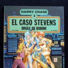 Cómics: HARRY CHASE, Nº 2. EL CASO STEVENS. DROLE DE BOBINE. MOLITERNI Y FAHRER. ED. GRIJALBO-DARGAUD, 1982. Lote 171217540