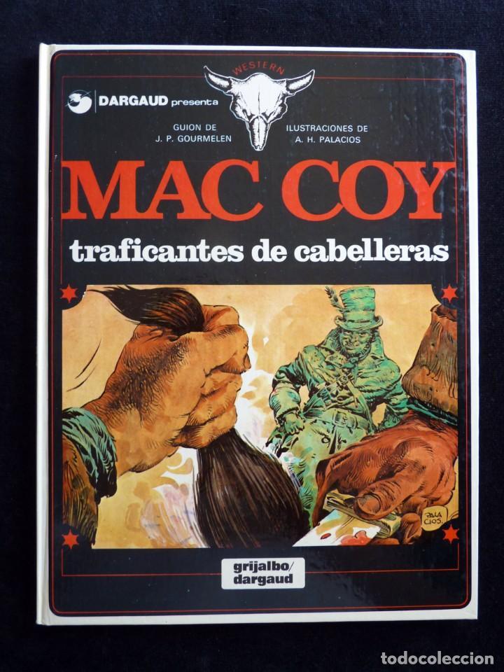 MAC COY, Nº 7. TRAFICANTE DE CABELLERAS. GOURMELEN Y PALACIOS. ED. GRIJALBO-DARGAUD, 1980. TAPA DURA (Tebeos y Comics - Grijalbo - Mac Coy)