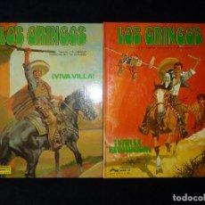 Comics: LOS GRINGOS. J.M. CHARLIER Y V. DE LA FUENTE. 2 NÚMEROS, COLECCIÓN COMPLETA. 1980-81. TAPA DURA. PER. Lote 171218325