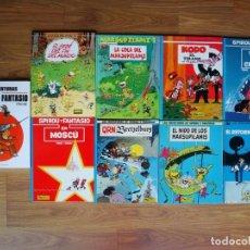 Cómics: LOTE 11 ÁLBUMS (9 DE SPIROU Y 2 DE MARSUPILAMI) PARIS BAJO EL SENA, TOKIO, KODO, .... Lote 171603528
