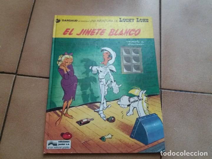 EL JINETE BLANCO. LUCKY LUKE. JUNIOR GRIJALBO. N° 2. MORRIS. TAPA DURA. BUEN ESTADO. (Tebeos y Comics - Grijalbo - Lucky Luke)
