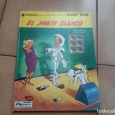 Cómics: EL JINETE BLANCO. LUCKY LUKE. JUNIOR GRIJALBO. N° 2. MORRIS. TAPA DURA. BUEN ESTADO.. Lote 172001117