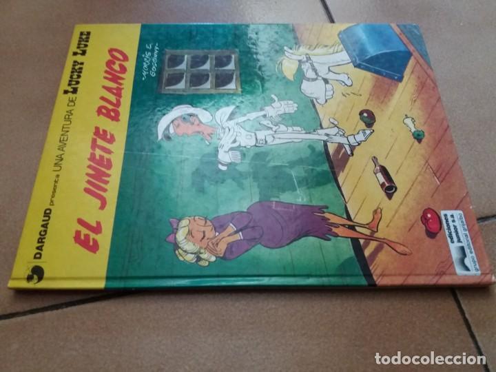 Cómics: El jinete blanco. Lucky Luke. Junior Grijalbo. N° 2. Morris. Tapa dura. Buen estado. - Foto 6 - 172001117