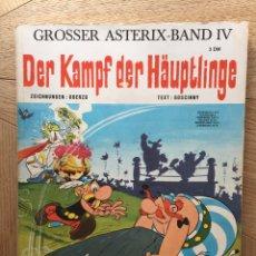 Cómics: ASTERIX Y EL COMBATE DE LOS JEFES EN ALEMÁN (DER KAMPF DER HÄUPTLINGE). AÑO 1969.. Lote 172004573