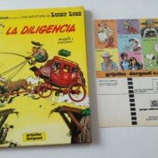 Cómics: LUCKY LUCKE - LA DILIGENCIA - GRIJALBO DARGAUD 1983 // CON CUPON DE LA EEDITORIAL MORRIS & GOSCINNY. Lote 172364589