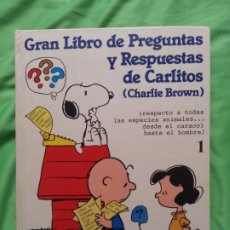 Cómics: GRAN LIBRO DE PREGUNTAS Y RESPUESTAS DE CARLITOS 1 - CHARLIE BROWN . Lote 172897662