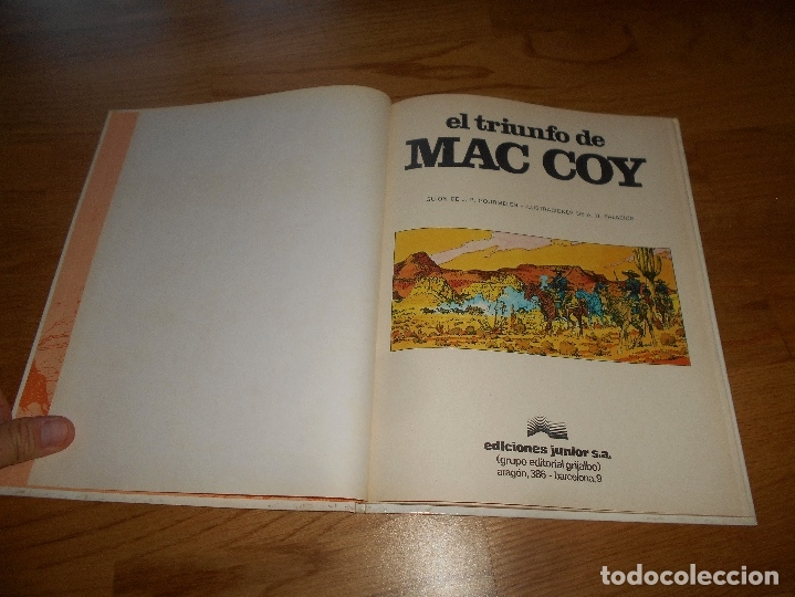 Cómics: MAC COY Nº 4 EL TRIUNFO DE MAC COY (GRIJALBO / DARGAUD ) TAPA DURA 1979 buen estado - Foto 2 - 173423889