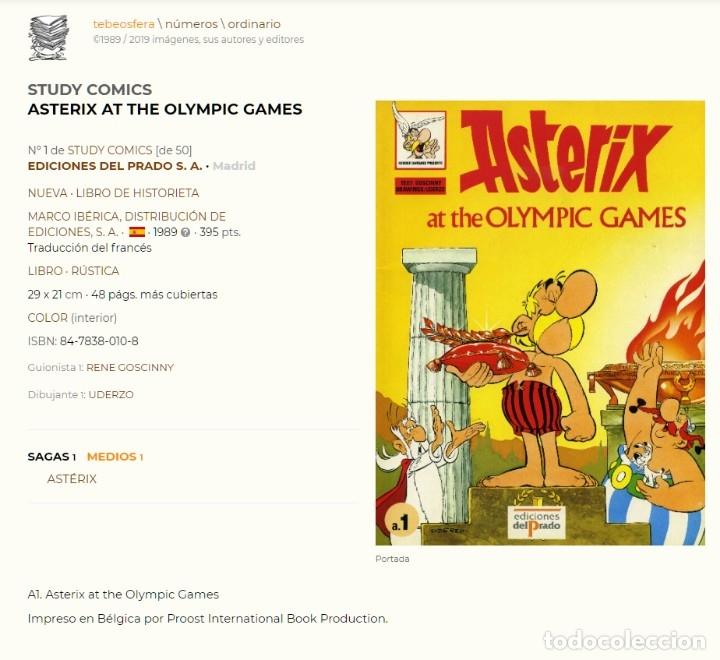 Cómics: Asterix at the olympic games. Asterix en los juegos olimpicos en Ingles. Ediciones del Prado. - Foto 2 - 173524667