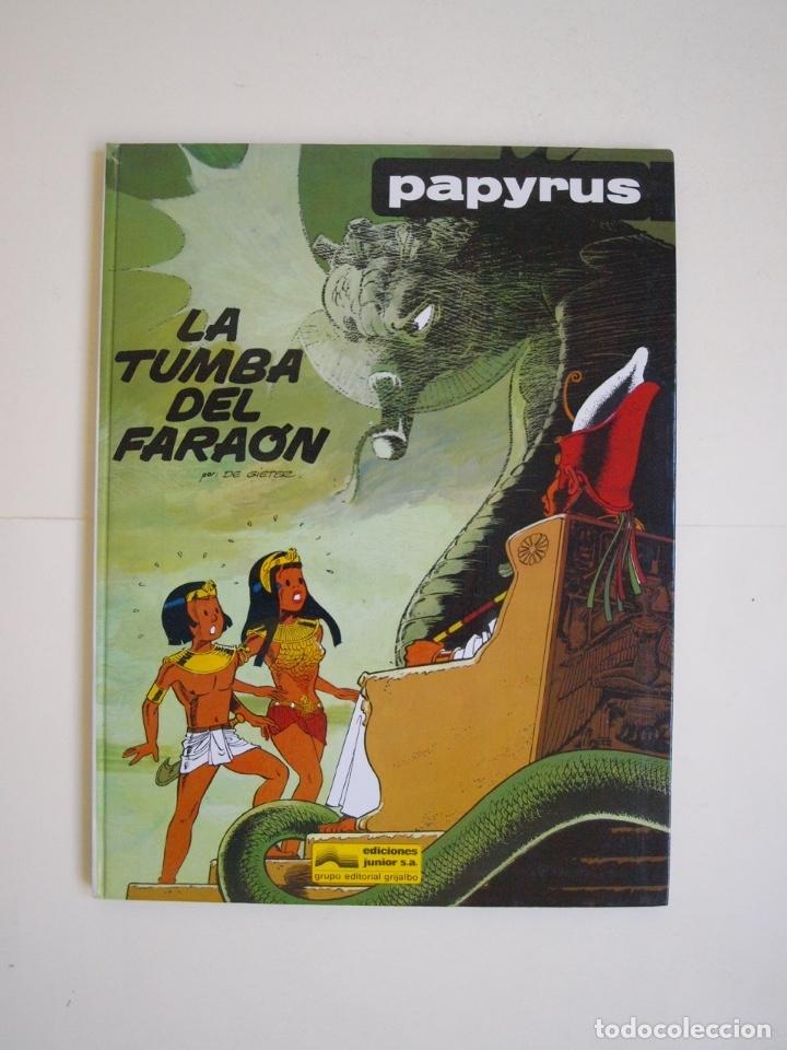PAPYRUS Nº 4 - LA TUMBA DEL FARAÓN - DE GIETER - EDICIONES JUNIOR - GRIJALBO 1988 (Tebeos y Comics - Grijalbo - Papyrus)