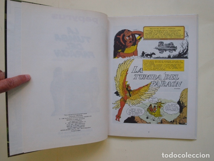 Cómics: PAPYRUS Nº 4 - LA TUMBA DEL FARAÓN - DE GIETER - EDICIONES JUNIOR - GRIJALBO 1988 - Foto 5 - 174215814