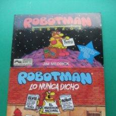 Cómics: ROBOTMAN TOMOS 1 Y 2 EDICIONES JUNIOR GRIJALBO 1987. Lote 174257948